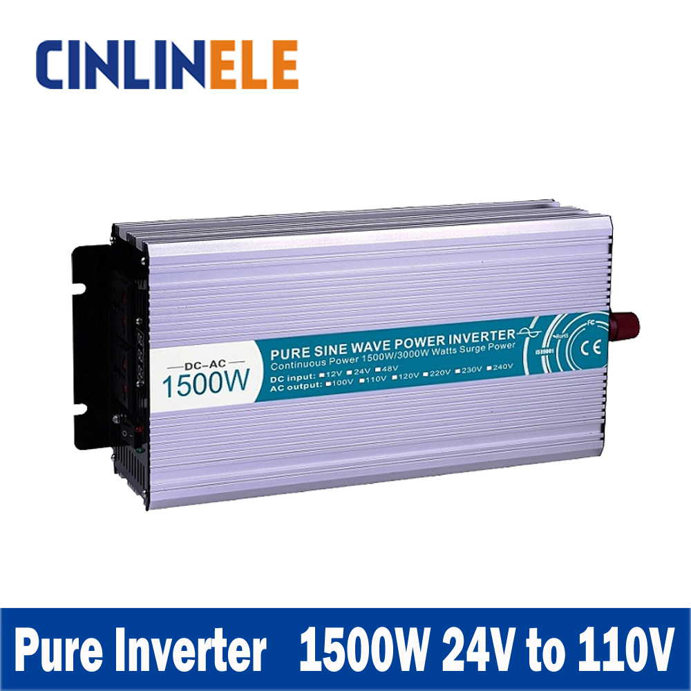 Smart Series Pure Sine Wave Inverter 1500W CLP1500A-241 DC 24V to AC 110V 1500W Surge Power 3000W