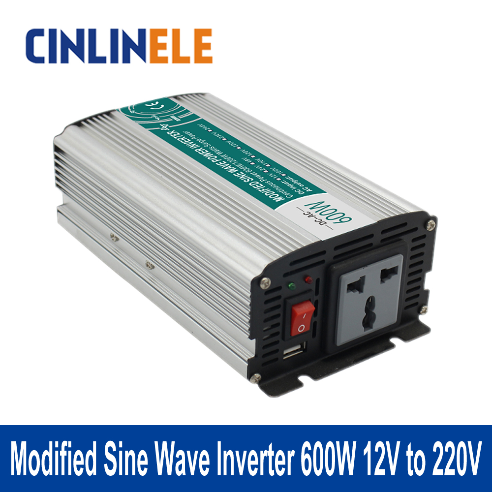 Shine Series Modified Sine Wave Inverter 600W CLM600A-122 DC 12V to AC 220V 600W Surge Power 1200W